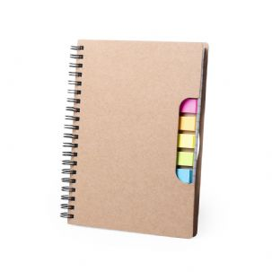 Cardboard Notebook with Sticky Notes